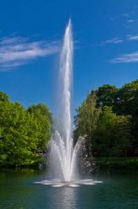Die Wasserfontäne am große Ausse in der Friedrichsau