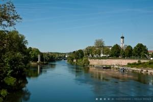 Adlerbastion und Donau in Ulm