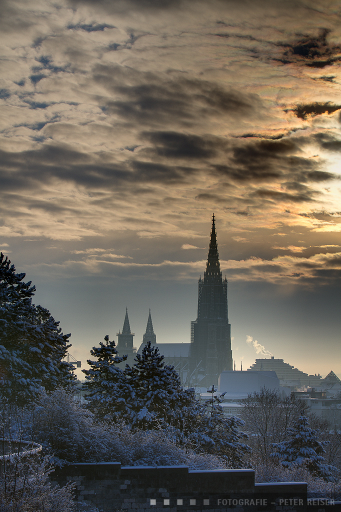 Ulmer Münster, Ansicht vom Kienlesberg aus