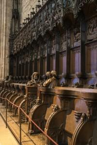 Das Chorgestühl des Ulmer Münsters
