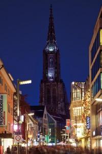 Ulm Hischstrasse mit Münster