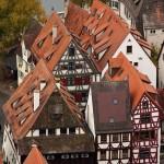 Die malerischen Fachwerkhäuser des Ulmer Fischerviertels