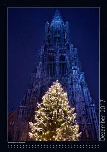 Weihnachtsbaum vor dem Ulmer Münster