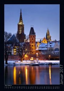 Ansicht Ulm im Winter