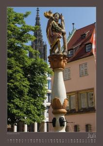 Ulm-Kalender Altstadt Christopherusbrunnen
