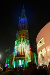 Ulmer Münster am Münster XXL Tag - Hochformat