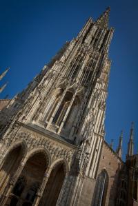 Ulmer Münster diagonal - Hochformat